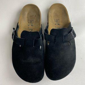 Betula Birkenstock slip on suede mule sandals sz40